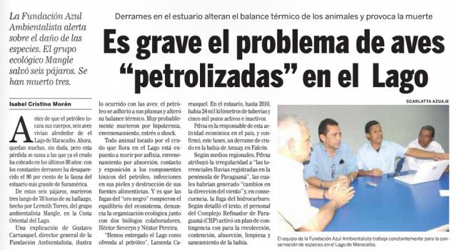 2014-10-29 Version Final - Animales Petrolizados en el Lago de Maracaibo