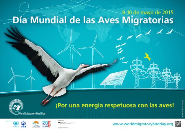 """Día Mundial de las Aves Migratorias 2015: """"¡Pon una energía respetuosa con las aves migratorias!"""""""