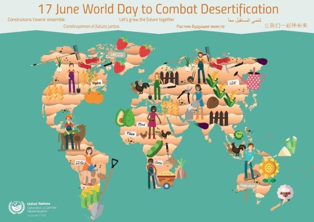 Día Mundial contra la Desertificación y la Sequía 2019: «Construyamos el futuro juntos»