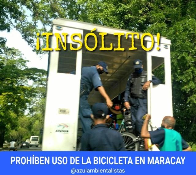 Maracay prohíbe el uso de bicicletas